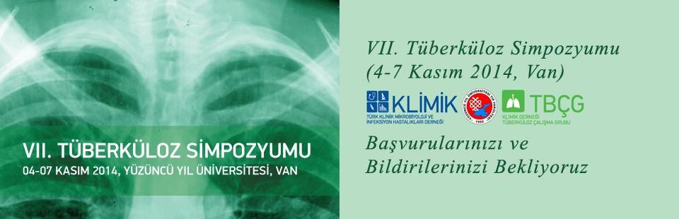 VII Tüberküloz Simpozyumu (4-7 Kasım 2014, Van) Başvurularınızı ve Bildirilerinizi Bekliyoruzz