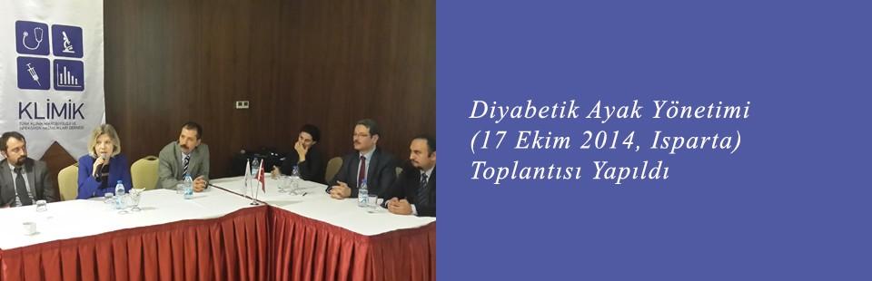Diyabetik Ayak Yönetimi (17 Ekim 2014, Isparta) Toplantısı Yapıldı