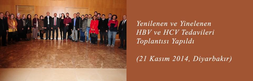 Yenilenen ve Yinelenen HBV ve HCV Tedavileri (21 Kasım 2014, Diyarbakır) Toplantısı Yapıldı