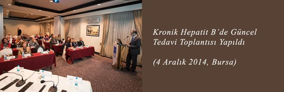 Kronik Hepatit B'de Güncel Tedavi (4 Aralık 2014, Bursa) Toplantısı Yapıldı