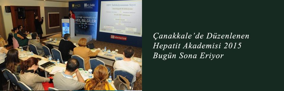 Çanakkale'de Düzenlenen Hepatit Akademisi 2015 Bugün Sona Eriyor
