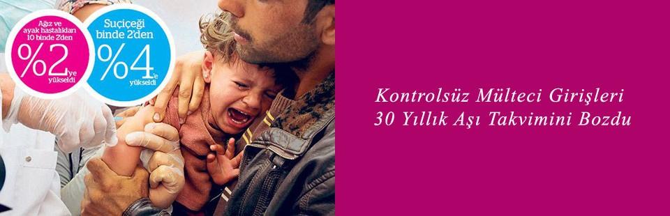 Kontrolsüz mülteci girişleri 30 yıllık aşı takvimini bozdu