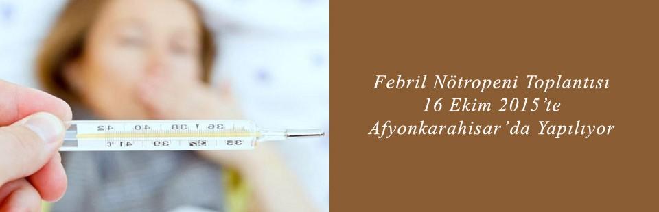 Febril Nötropeni Toplantısı 16 Ekim 2015'te Afyonkarahisar'da Yapılıyor