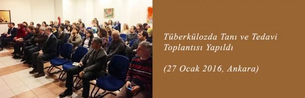 Tüberkülozda Tanı ve Tedavi (27 Ocak 2016, Ankara) Toplantısı Yapıldı