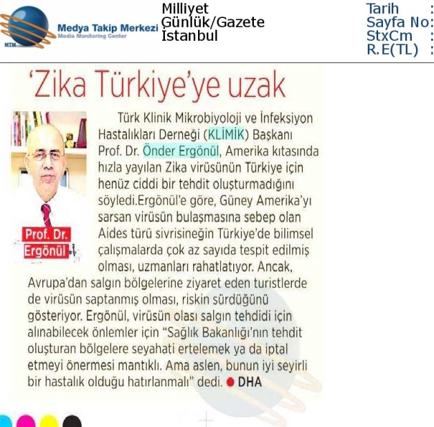 Milliyet_2_Şubat_2016 (ZİKA_TÜRKİYE_YE_UZAK)