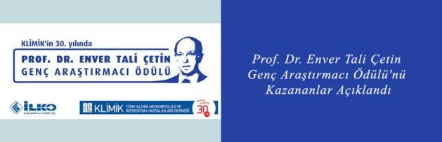 Prof Dr Enver Tali Çetin Genç Araştırmacı Ödülü'nü Kazananlar Açıklandı