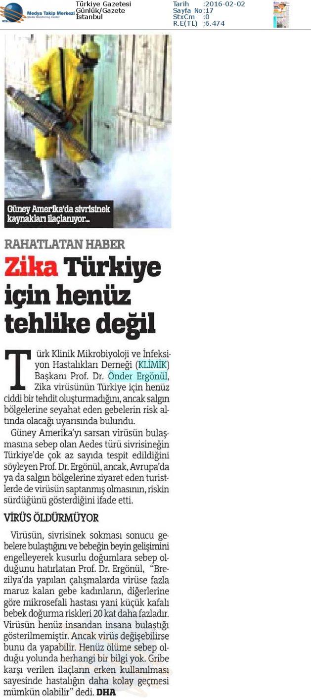 Türkiye_Gazetesi_2_Şubat_2016 (ZİKA_TÜRKİYE_İÇİN_HENÜZ_TEHLİKE_DEĞİL)
