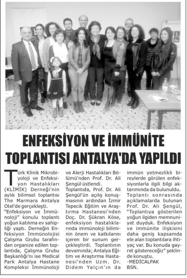 Antalya_Akdeniz_Güncel_12_Mart_2016 (ENFEKSİYON_VE_İMMÜNİTE_TOPLANTISI_ANTALYA_DA_YAPILDI)1