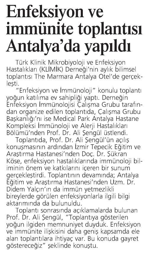 Antalya_Ekspres_Gazetesi_12_Mart_2016 (ENFEKSİYON_VE_İMMÜNİTE_TOPLANTISI_ANTALYA_DA_YAPILDI)