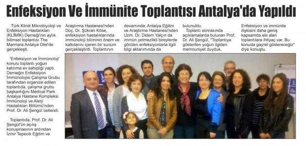 Antalya_Finike_Akdeniz_Gazetesi_12_Mart_2016 (ENFEKSİYON_VE_İMMÜNİTE_TOPLANTISI_ANTALYA_DA_YAPILDI)