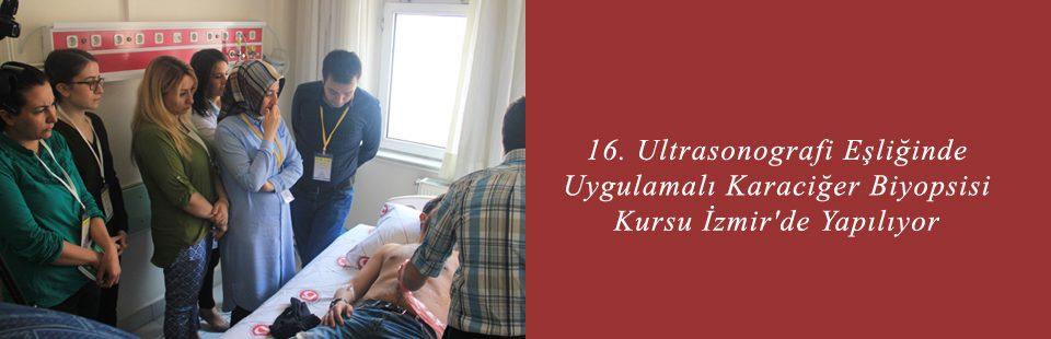 16 Ultrasonografi Eşliğinde Uygulamalı Karaciğer Biyopsisi Kursu İzmir'de Yapılıyor