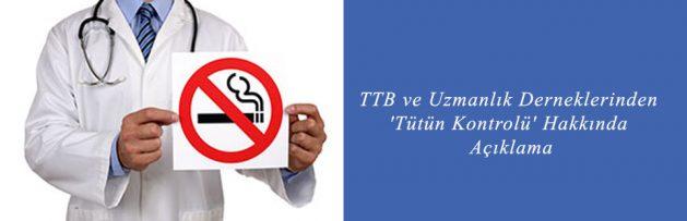TTB ve Uzmanlık Derneklerinden 'Tütün Kontrolü' Hakkında Açıklama2