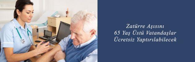 Zatürre Aşısını 65 Yaş Üstü Vatandaşlar Ücretsiz Yaptırılabilecek