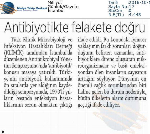 Milliyet-ANTİBİYOTİKTE_FELAKETE_DOĞRU-16.10.2016