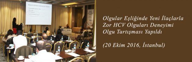 Olgular Eşliğinde Yeni İlaçlarla Zor HCV Olguları Deneyimi Olgu Tartışması (20 Ekim 2016, İstanbul) Yapıldı