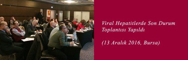 Viral Hepatitlerde Son Durum (13 Aralık 2016, Bursa) Toplantısı Yapıldı