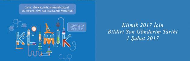 Klimik 2017 için Bildiri Son Gönderim Tarihi 1 Şubat 2017