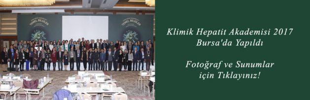 Klimik Hepatit Akademisi 2017 Bursa'da Yapıldı